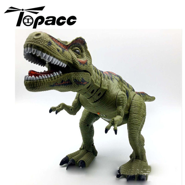 Simulation Walking Dinosaur Electric Toy Robot Can Lay Eggs Electronic Actions Figures Pets Kids Children Toys Green Color