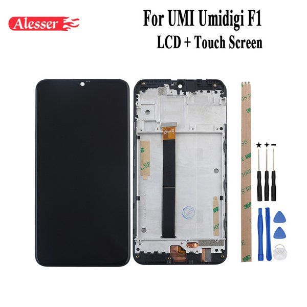 Alesser For UMI Umidigi F1 LCD Display and Touch Screen +Frame Assembly Repair Parts With Tools And Adhesive For UMI Umidigi F1