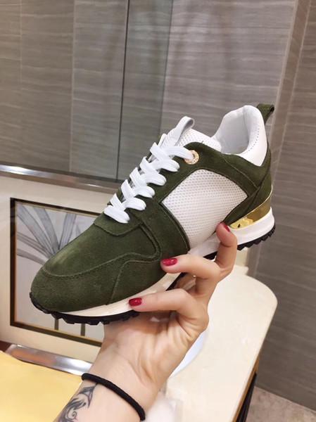 Lüks Tasarımcı Kaya Damızlık Sneaker Ayakkabı Yüksek Kalite Kadınlar Rahat Ayakkabılar Kaya Koşucu Eğitmeni Parti Düğün Ayakkabı yy18042204