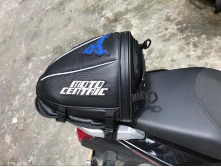 Spor Touring Genişletilebilir Motosiklet Koltuk Kuyruk Çantası Paketi Çanta Siyah Mavi