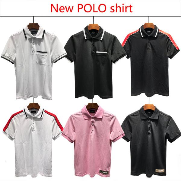 2018 Nuevo estilo coreano Polo Camisetas para hombre Moda Casual Slim Fit De gama alta Estilo de camisa LPLO Tamaño: M-XXXL