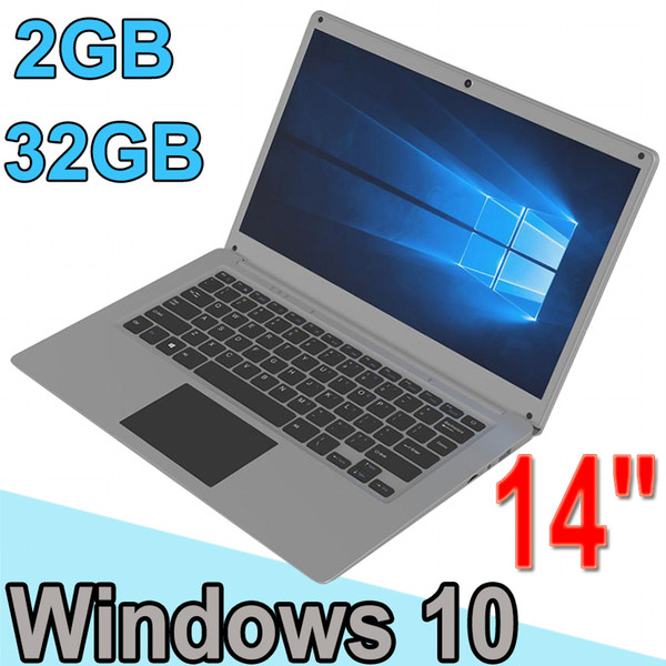 Free Shipping 14inch mini Laptop Computer Windows 10 2G RAM 32G ROM emmc Ultrabook Tablet Laptop Camera USB HDMI with Lowest Price XCTD-1