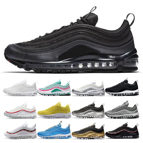 nike air max 97 shoes Üst Erkek Üçlü Siyah Koşu Ayakkabıları Kadın UNDEFEATED Sarı Siyah Beyaz Beyaz Kırmızı Kadınlar Overbranding Mavi Kahraman Japonya Eğitmenler Spor Sneakers