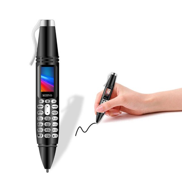Recording Pen mini Mobile phone SERVO K07 0.96inch small Screen Dual SIM Card Sync contact Bluetooth Dialer Flashlight Cellphone