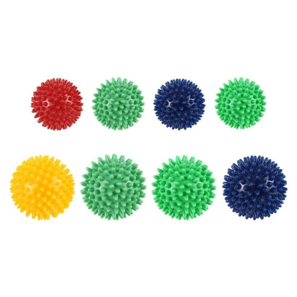 PVC Spiky Massage Ball Trigger Point Sport Fitness Mano Piede Dolore Stress Relief Accessori fitness Muscle Relax Ball 5 colori