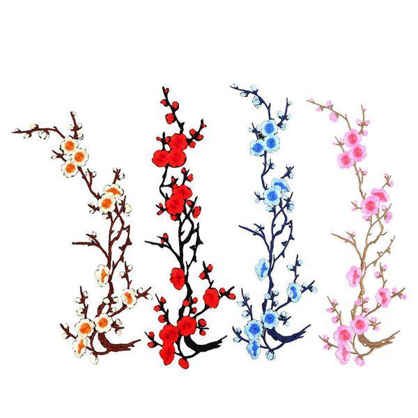 Flor de flor caliente Apliques de ropa Bordado Parche Etiqueta de la tela De hierro en coser en el arte de costura de reparación bordado