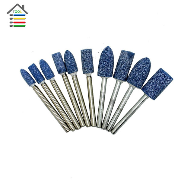 10Pc 20mm Mounted Abrasive Grinding Stone Silicon Carbide Set Dremel Rotary Tool