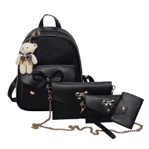 14шт композитный мешок женщины сумка четыре комплекта сумки через плечо сумка с Cluth кошелек Mochilas Mujer