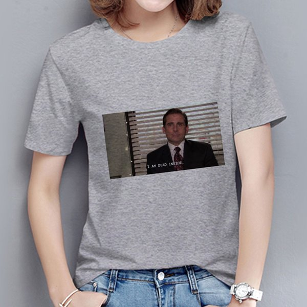 bdac8176f3214 Summer Fashion I AM DEAD INSIDE Funny Graphic Tee Streetwear Ulzzang  Aesthetic Clothes O-neck