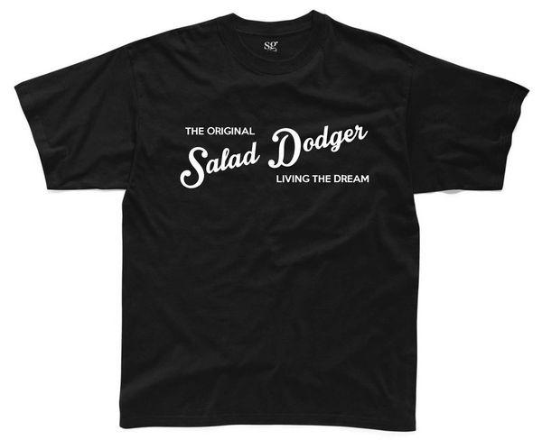 T-Shirt da uomo ORIGINAL DADGER Salopette S-3XL T-shirt da college Hip Hop divertente con stampa Fat Joke Top