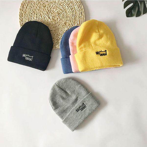 Fashion Women Men Knitted Warm Hat 5 Colors Children Winter Woolen Hat Outdoor Arctic Cap 60 Pieces DHL