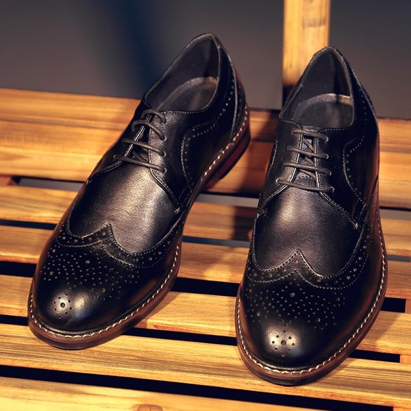 Style À Chaussure Up Mariage Acheter Mode Britannique Mycolen La Lacets Brogue En Main Homme Chaussures Véritable De Cuir n0mN8wvO