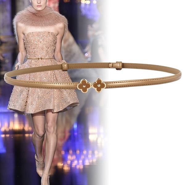 le cinghie sottili delle signore della cinghia di lusso delle donne vestono la cinghia superiore del pannello esterno della cinghia del cinturino del bicchierino di modo di brevetto PU Trasporto libero