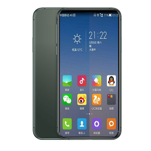 Kutu Sahte 4G Mühürlü Goophone 5.8inch 10 Andriod telefon 1GBRAM 16GBROM MTK6580 Dört Çekirdekli 8MP 3G WCDMA FaceID gösterildi