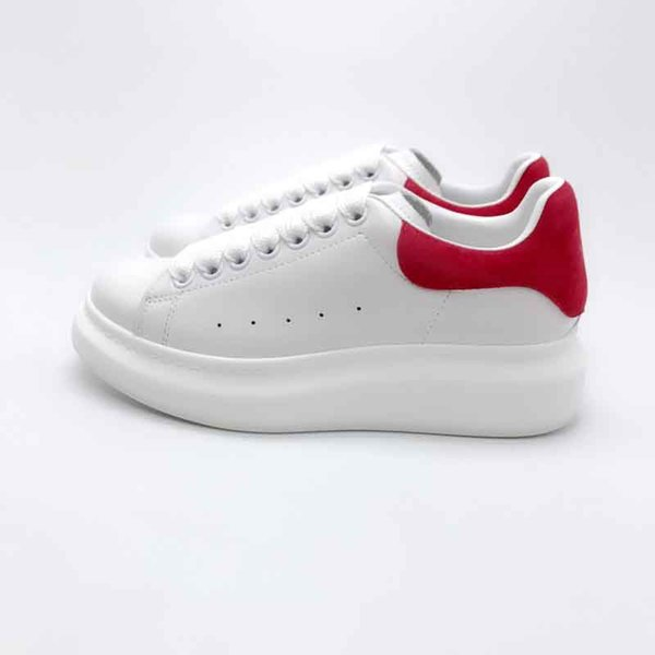 white red suede