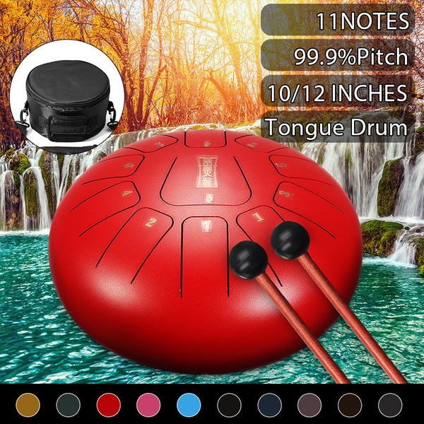best selling 10 inch Steel Tongue Hand Drum 11 Notes Pentatonic Scale Hank Drum Percussion Instruments with Many Accessories