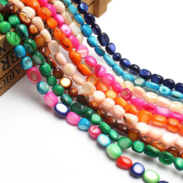 25 piezas Top Perforado Perlas Lágrima Cuentas Sueltas de piedra natural para la fabricación de joyería
