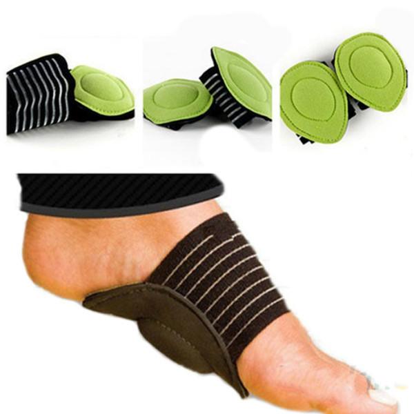 Fuß gepolsterte Fußgewölbestütze Stoßdämpfende Schmerzlinderung Fußpolster Flache Fußsohlen mit Plantarferse Fuß gepolsterte Fußsohlen 1 Paar RRA1190