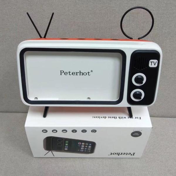 Peterhot PTH800 Tocar Telefone Celular e Relógios do Computador Do Bluetooth Speaker Bass TV Speaker Amplificador de Telefone Celular Ao Ar Livre Pequeno Som