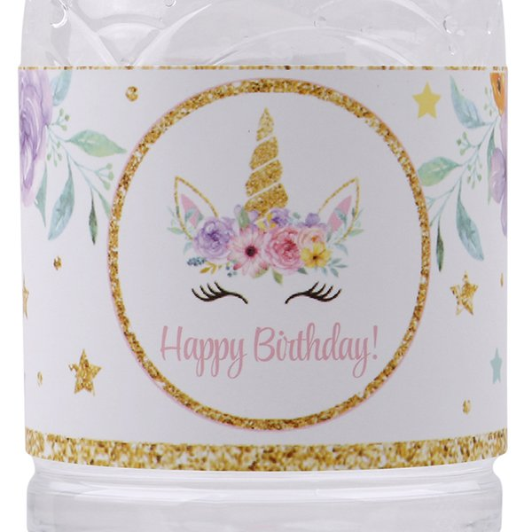 24 pcs unicórnio garrafa adesivos de chá de unicórnio do partido do bebê decoração da festa de aniversário suprimentos unicórnio etiqueta garrafa adesivos