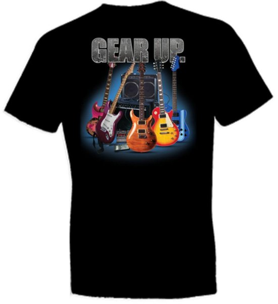 GEAR UP GUITARS BLACK CREW NECK SHORT SLEEVE TSHIRT