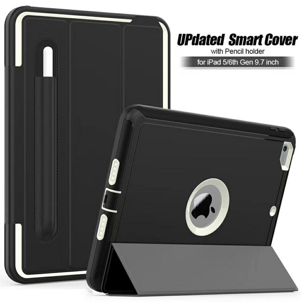 Foldable Magnetic Smart Cover for ipad 5 6 9.7'' Air 2 Case Auto Sleep&Awake Function Built-in Pencil Holder