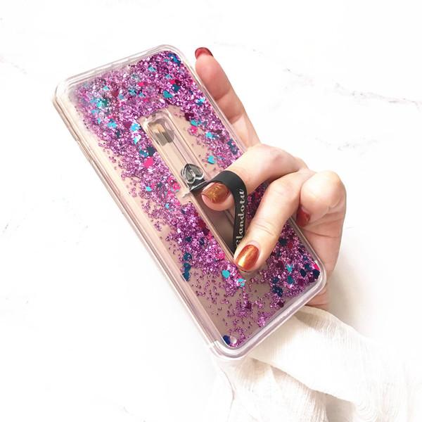 Для Huawei Mate 20 Lite 10 Pro Honor 9 9i Lite Y7 Prime 2017 течет жидкий блеск Зыбучих Песков масштабируемые кольцо пряжка с Kickstand Case Cover