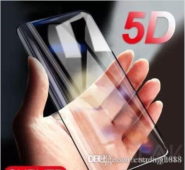 Tasarım 5D Kavisli Tam Kapak Temperli Cam Ekran Koruyucu Film iphone 6 7 8 X toptan fiyat