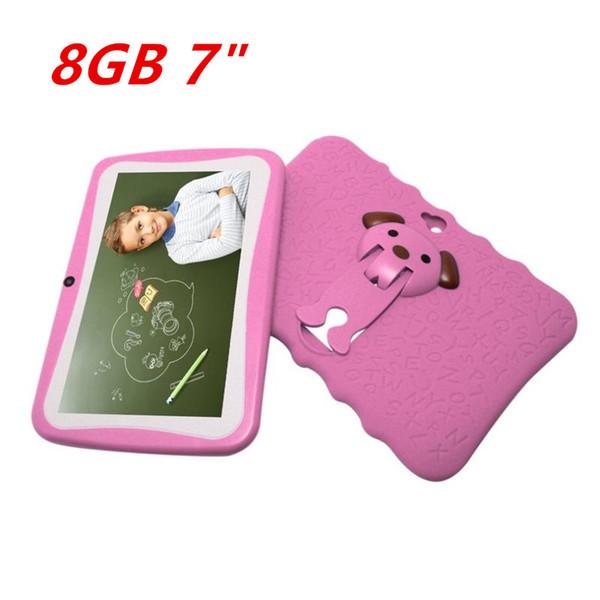 2019 Enfants 7 Pouces Tablet PC Quad Core Tablette Enfants Android 4.4 Quad Core Google Lecteur WIFI Grand Haut Housse De Protection