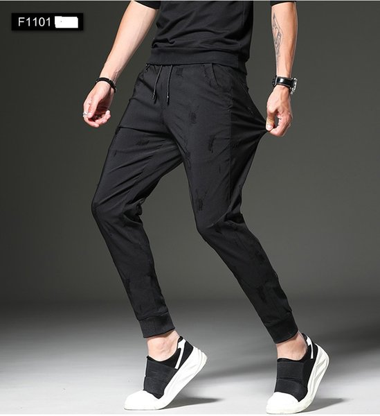 Factory 6 Styles Fashion Men Leisure Pants New Sports Pencil Pants Slimming Youth Korean Trousers WY0011
