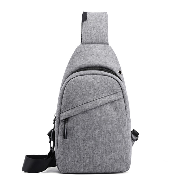 19 New Men's Universal chest pack Single Shoulder Large Capacity Variety functional Small Backpack Fashion Korean Style and Cool daily good