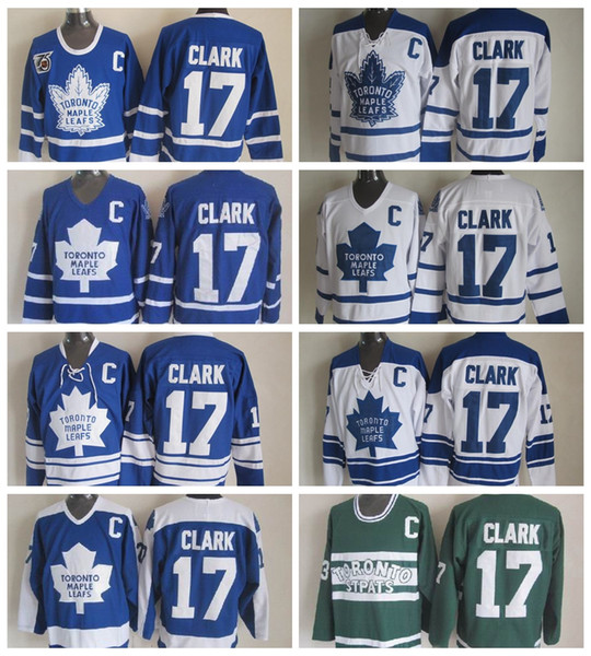 low priced 48ea8 cf35f 2019 Top Quality Toronto Maple Leafs #17 Wendel Clark Jersey Vintage CCM  Classic Wendel Clark Hockey Jersey 75th Anniversary Stitched C Patch From  ...