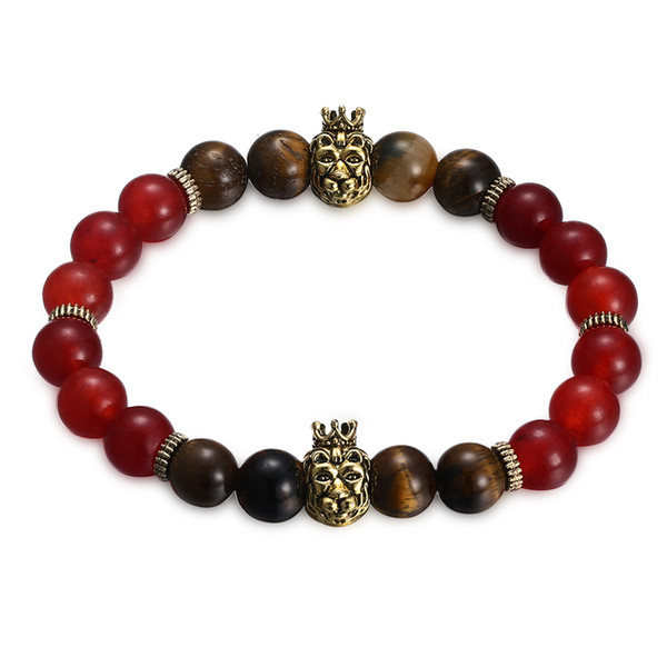 2019 New Fashion Jewelry Classic Creative Neutral Bead Bracel et Agate Tiger Stone Statement Jewelry For Free Shipping