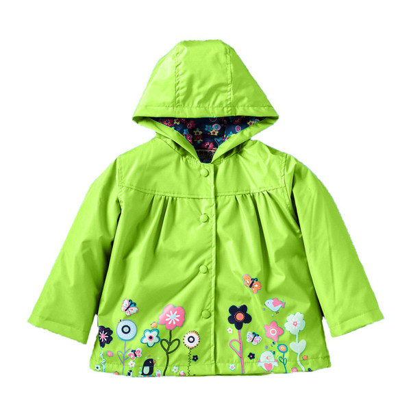 European Style Girls Jackets Girls Coat Windbreaker Winter Autumn Children Clothes Fashion Kids Clothing Print Casual Clothes