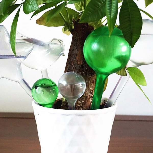 Garden Pot Plant Tools Bulb Shape Watering Cans PVC Travel Home Plant Self Watering Star Watering Cans Automatic Irrigation Lawn DH1209