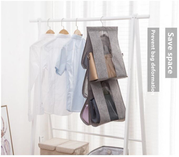 2 pcs Cinco rejillas de algodón-lino multifuncional bolsa de almacenamiento Organizador Visual Bolsa para polvo CYR 002