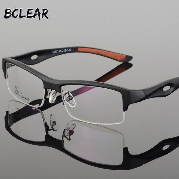 BCLEAR Brillengestell Attraktives Herren-Design mit unverwechselbarem Design Komfortable TR90-Halbrahmen-Platz-Sportbrille mit Brille