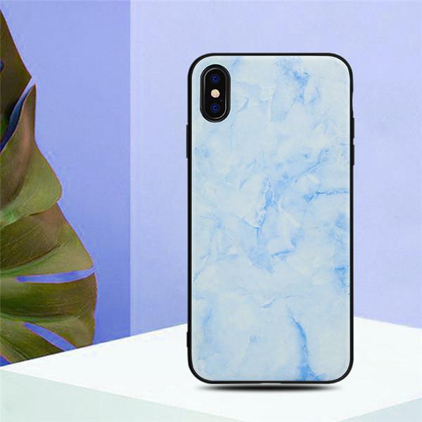 Nouveau cas de téléphone de pomme de marbre pour l'iphone XS max xr 678plus style chinois pu tout-inclus incassable coque de protection soft shell