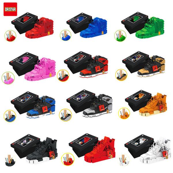 Neue Schöpfer Mini Nano Blöcke Sportschuhe Basketball Serie Gebäude Stift Container Sport Modell In Spielzeug Blöcke Für Kinder