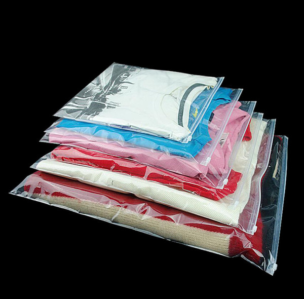 100 Pcs/Lot Clear Plastic Reclosable Zipper Poly Bag, Storage Packaging Bag for Gift Clothes Shoes Jewelry C18112801