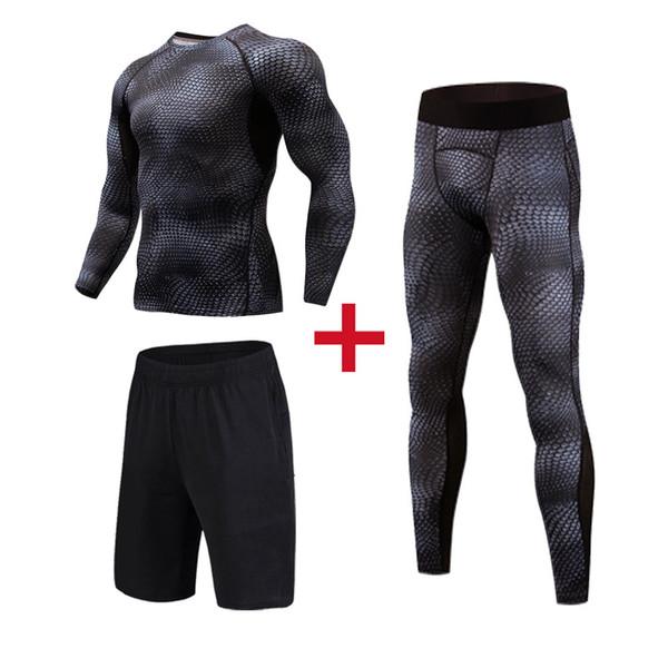 Высокое качество сжатия Мужские спортивные костюмы быстрый сухой бег наборы одежда спортивные бегуны тренировки тренажерный зал фитнес беговые костюмы