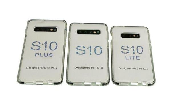 прозрачный красный Двухцветный ясности TPU случая сотового телефона Гибридный Доспех противоударный чехол для iPhone 11 Pro Max Xs XR Max Samsung Note 10 S10 Plus