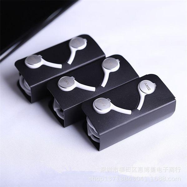 S10 Auriculares Auriculares Auriculares para iPhone 6 Plus Samsung s9 s8 s7 s7 plus para Jack In Ear con cable de 3,5 mm en blanco y negro EO-IG955 con envío rápido