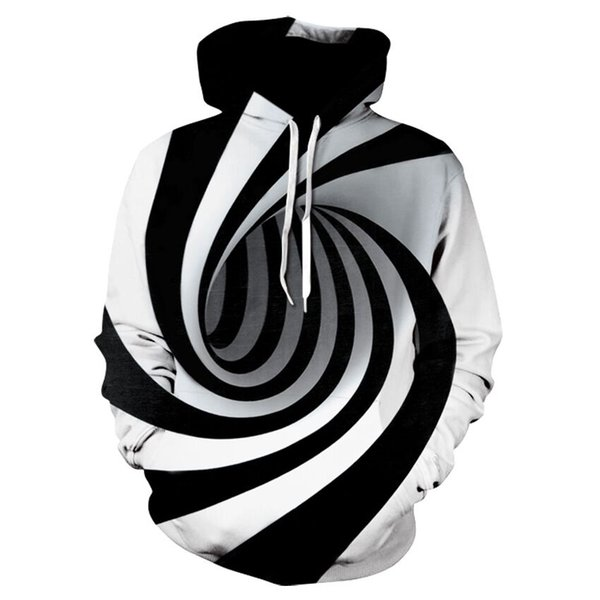 Newest Hot Fashion Psychedelic Swirls Hoodies Women/Men Unisex Funny Long Sleeve 3D Printed Pullover Unisex Hipster Sportwear Tops H637