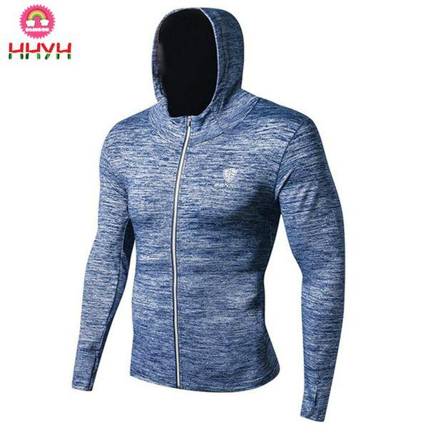 2018 Training Hoodies Sweatshirt Fashion New Men Gym Fitness Quick Dry Elasticity Skinny Sportswear Man Run Jogging Workout Brand Tops Clothing From