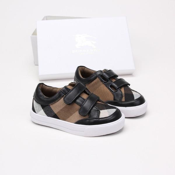 Kinderschuhe Jungen Sommer neue Kinder Rest Schuhe niedlich Mode gesetzt Version 2019 komfortable Mode Plaid Leder Klassiker