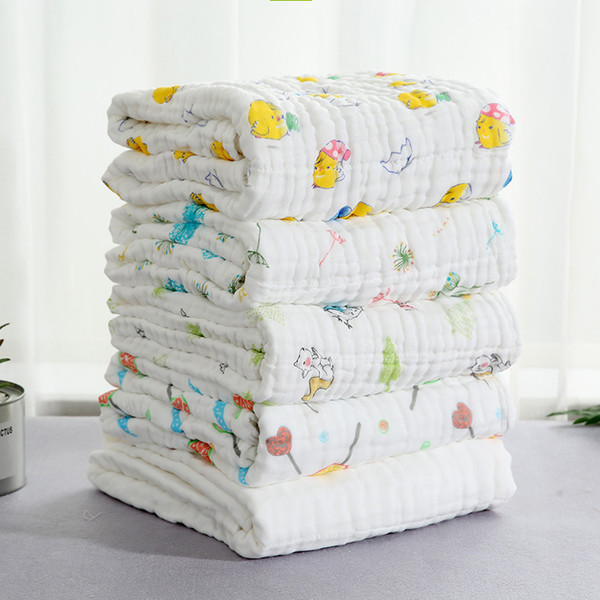 6 couches bébé serviette de bain 100% coton couverture de mousseline super absorbant enfants serviette de bain nourrisson visage serviettes de toilette nouveau-nés débarbouillettes