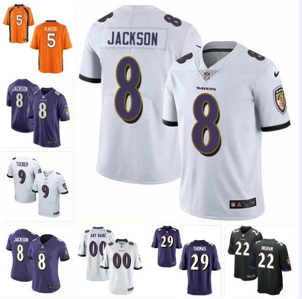 save off e92d5 2b51d 2019 Justin Tucker Lamar Jackson Jersey Ravens Mark Ingram Earl Thomas Joe  Flacco Ray Lewis Authentic Custom American Football Jerseys Sports From ...