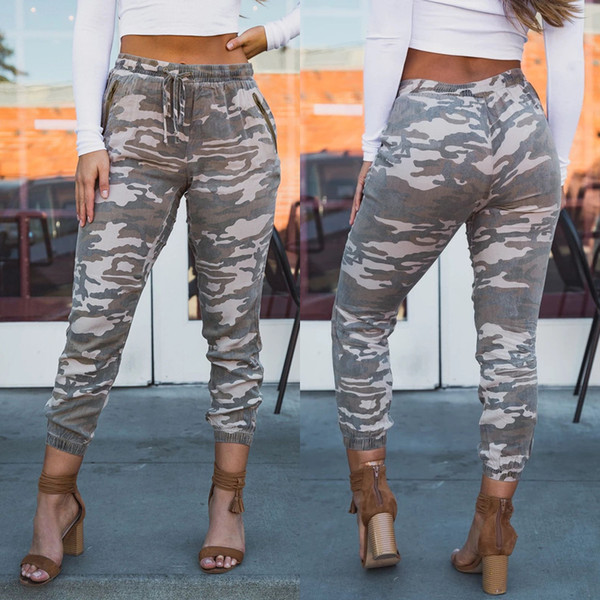 New Womens Army Military Dark Camouflage Pants Slim Skinny Camo Jeans Trousers