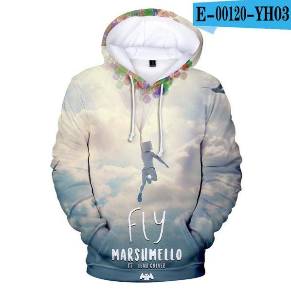 Kids Boy Girl Marshmello DJ Hooded 3D Printing Hoodie Sweatshirt Pullover Jumper
